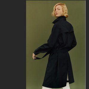 Uniqlo U Black Trench/Rain Jacket Size S